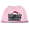 Mirage Pet Products Don't Stop Believin' Screenprint Shirts Light Pink XS (8)