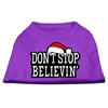 Mirage Pet Products Don't Stop Believin' Screenprint Shirts Purple XS (8)
