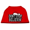 Mirage Pet Products Don't Stop Believin' Screenprint Shirts Red XS (8)