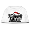 Mirage Pet Products Don't Stop Believin' Screenprint Shirts White XXL (18)