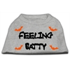 Mirage Pet Products Feeling Batty Screen Print Shirts Grey Lg (14)