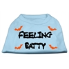 Mirage Pet Products Feeling Batty Screen Print Shirts Baby Blue XS (8)