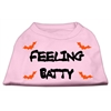 Mirage Pet Products Feeling Batty Screen Print Shirts Pink XS (8)
