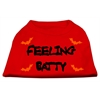 Mirage Pet Products Feeling Batty Screen Print Shirts Red Lg (14)