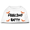 Mirage Pet Products Feeling Batty Screen Print Shirts White Sm (10)