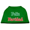 Mirage Pet Products Feliz Navidad Screen Print Shirts Emerald Green XL (16)