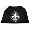 Mirage Pet Products Henna Fleur De Lis Screen Print Shirt Black XS (8)