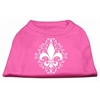 Mirage Pet Products Henna Fleur De Lis Screen Print Shirt Bright Pink Med (12)