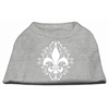 Mirage Pet Products Henna Fleur De Lis Screen Print Shirt Grey Sm (10)