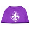 Mirage Pet Products Henna Fleur De Lis Screen Print Shirt Purple XS (8)
