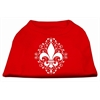 Mirage Pet Products Henna Fleur De Lis Screen Print Shirt Red XS (8)