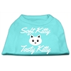 Mirage Pet Products Softy Kitty, Tasty Kitty Screen Print Dog Shirt Aqua XL (16)