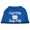 Mirage Pet Products Softy Kitty, Tasty Kitty Screen Print Dog Shirt Blue XXL (18)
