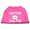 Mirage Pet Products Softy Kitty, Tasty Kitty Screen Print Dog Shirt Bright Pink XXL (18)