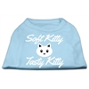 Mirage Pet Products Softy Kitty, Tasty Kitty Screen Print Dog Shirt Baby Blue XL (16)