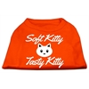 Mirage Pet Products Softy Kitty, Tasty Kitty Screen Print Dog Shirt Orange XL (16)