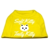 Mirage Pet Products Softy Kitty, Tasty Kitty Screen Print Dog Shirt Yellow XS (8)