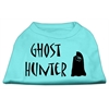Mirage Pet Products Ghost Hunter Screen Print Shirt Aqua with Black Lettering Med (12)