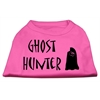 Mirage Pet Products Ghost Hunter Screen Print Shirt Bright Pink with Black Lettering XS (8)