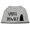 Mirage Pet Products Ghost Hunter Screen Print Shirt Grey with Black Lettering XS (8)