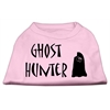 Mirage Pet Products Ghost Hunter Screen Print Shirt Light Pink with Black Lettering XXL (18)