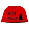 Mirage Pet Products Ghost Hunter Screen Print Shirt Red with Black Lettering XS (8)
