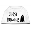 Mirage Pet Products Ghost Hunter Screen Print Shirt White with Black Lettering XXL (18)