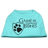 Mirage Pet Products Game of Bones Screen Print Dog Shirt Aqua Lg (14)