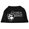 Mirage Pet Products Game of Bones Screen Print Dog Shirt Black XS (8)