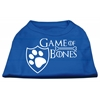 Mirage Pet Products Game of Bones Screen Print Dog Shirt Blue Lg (14)