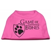Mirage Pet Products Game of Bones Screen Print Dog Shirt Bright Pink XS (8)