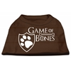 Mirage Pet Products Game of Bones Screen Print Dog Shirt Brown XS (8)