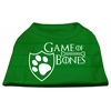 Mirage Pet Products Game of Bones Screen Print Dog Shirt Green XS (8)