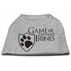 Mirage Pet Products Game of Bones Screen Print Dog Shirt Grey XS (8)