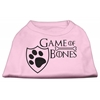 Mirage Pet Products Game of Bones Screen Print Dog Shirt Light Pink XS (8)