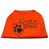 Mirage Pet Products Game of Bones Screen Print Dog Shirt Orange Lg (14)