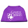 Mirage Pet Products Game of Bones Screen Print Dog Shirt Purple XL (16)