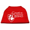 Mirage Pet Products Game of Bones Screen Print Dog Shirt Red XS (8)