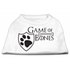 Mirage Pet Products Game of Bones Screen Print Dog Shirt White XXL (18)