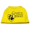 Mirage Pet Products Game of Bones Screen Print Dog Shirt Yellow XL (16)