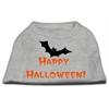 Mirage Pet Products Happy Halloween Screen Print Shirts Grey XXL (18)