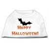 Mirage Pet Products Happy Halloween Screen Print Shirts White S (10)