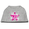 Mirage Pet Products Scribble Happy Holidays Screenprint Shirts Grey XS (8)