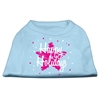 Mirage Pet Products Scribble Happy Holidays Screenprint Shirts Baby Blue XS (8)