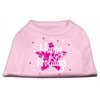 Mirage Pet Products Scribble Happy Holidays Screenprint Shirts Light Pink XS (8)