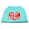 Mirage Pet Products Heart Breaker Screen Print Shirt Aqua XXL (18)