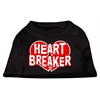 Mirage Pet Products Heart Breaker Screen Print Shirt Black  XXL (18)