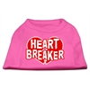 Mirage Pet Products Heart Breaker Screen Print Shirt Bright Pink Lg (14)
