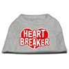 Mirage Pet Products Heart Breaker Screen Print Shirt Grey Lg (14)