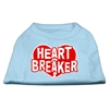 Mirage Pet Products Heart Breaker Screen Print Shirt Baby Blue XS (8)